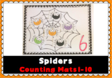 Spider Web Number & Counting Mats 1-10