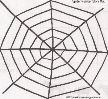 Spider Web Number Story Mat and Recording Sheet