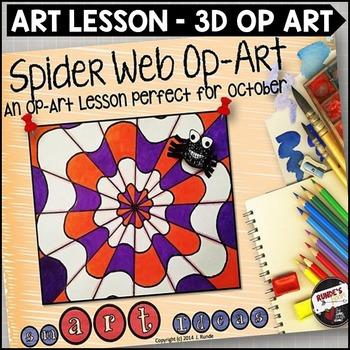 Spider Web Op-Art - An Art Lesson