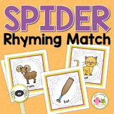 Spiders Rhyming Clip Cards:  Halloween Rhyming Activity for ECE