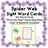 Spider Web Sight Word Cards