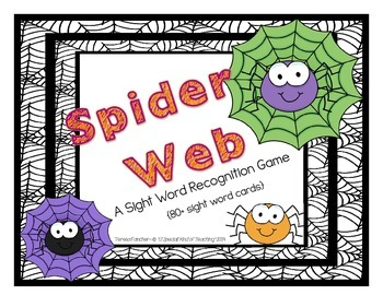 Spider Web Sight Word Recognition Game