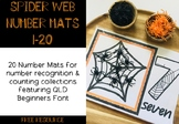 Spider Web Themed Number Mats