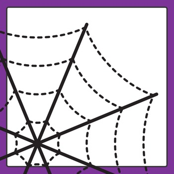 Spider Web Trace Clip Art for Commercial Use - Pencil or Scissor Control