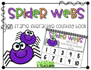 Spider Webs 10 Frame Counting Interactive Book