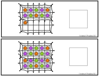 Spider Webs 20 Frame Counting Interactive Book