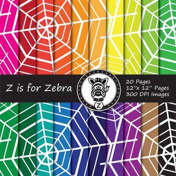 Spider Webs Digital Paper Pack 1 - Commercial Use ok