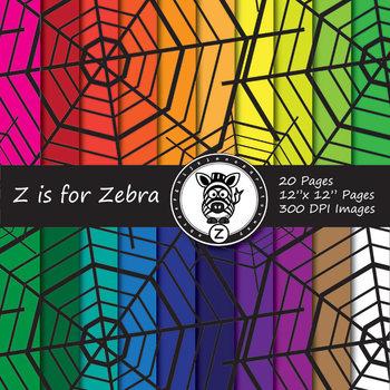 Spider Webs Digital Paper Pack 2 - Commercial Use ok
