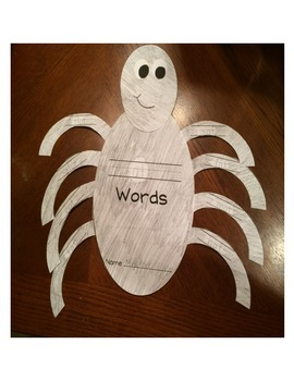 Spider Word Family Craft