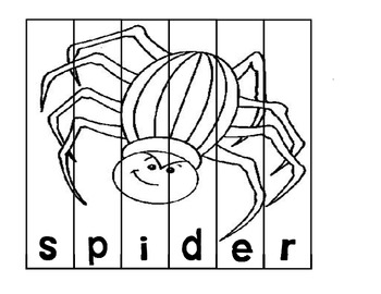 Spider Word Work