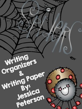 Spider Writing Organizers and Writing Paper {Freebie}