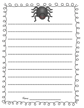 Spider Writing Paper Template - Halloween and/or Opinion Writing