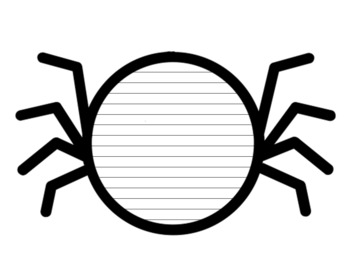 Spider Writing Paper With Lines Spider Template With Lines Spider Writing