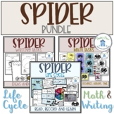 Spider Bundle Life Cycles Writing and Math