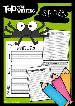 Spider Writing with Topper {Fall Activities}