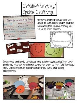 Spider Writing/Craftivity FREEBIE