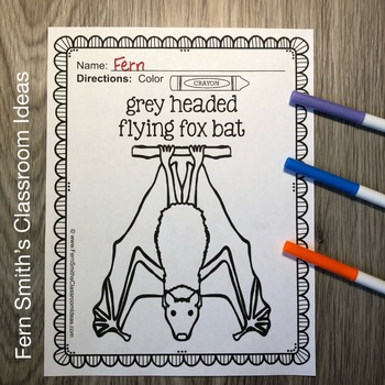 Bats and Spiders Coloring Pages