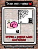 Spider and Snail - Bugs - A to Z Upper & Lower Case Matchi
