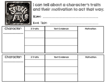 Spider and the Fly - Character Traits