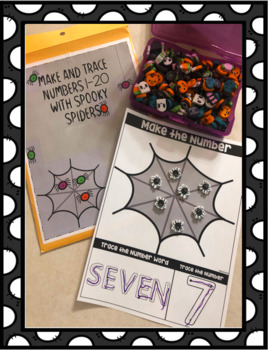 Spider make & Trace Numbers 1-20