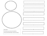 Spider outline for cut and glue activity