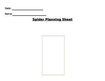 Spider planning Sheet