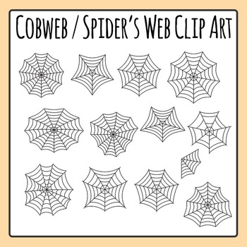 Spider's Web / Cobweb Clip Art Set for Commercial Use