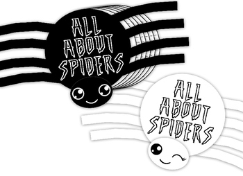 Writing Craftivity Spider shaped book! 5Pre-Writing Graphic organizers included!