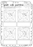 Spider web number patterns