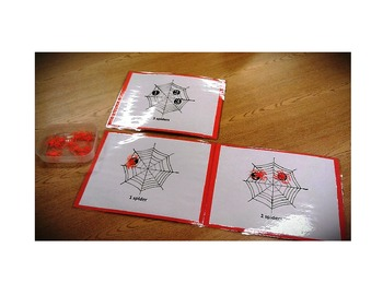 Spider/Halloween Counting - Number Activity Mats