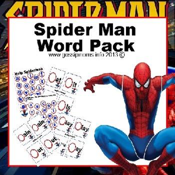 SpiderMan Word Pack