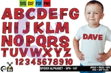 Spiderman Alphabet and Clipart, Uppercase Letters, AMB-2109