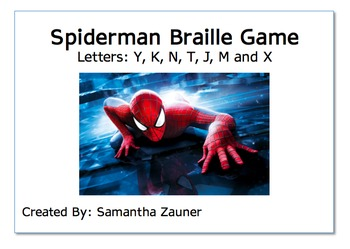 Spiderman Braille Game