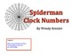 Spiderman Clock Numbers