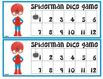 Spiderman Dice Game