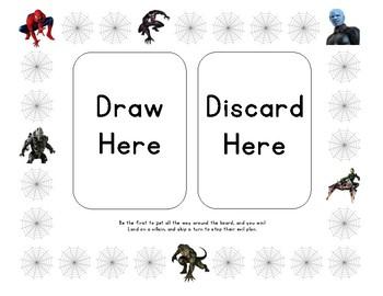 Spiderman Game Board