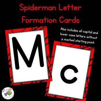 Spiderman Letter Cards