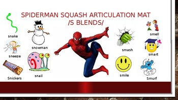 Spiderman Squash Articulation Mats