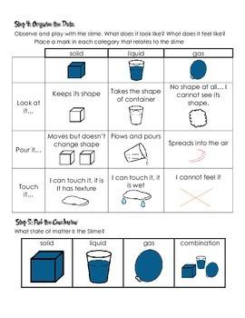 Web slime experiment data sheet