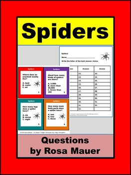 Spiders and Other Arachnids Task Cards