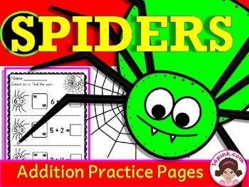 Spiders Math Activities