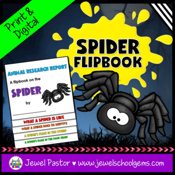 Science Halloween Activities (Spider Research Flipbook)