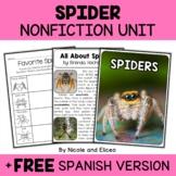 Spider Activities Nonfiction Unit