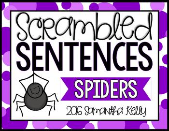 Spiders Scrambled Sentence Station