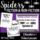 Spiders: A Fiction and Nonfiction Lesson with Printable Books