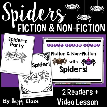 Spiders: A Fiction and Non-Fiction Lesson with Printable Books