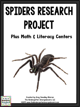 Spiders!  A Spider Research And Writing Project!