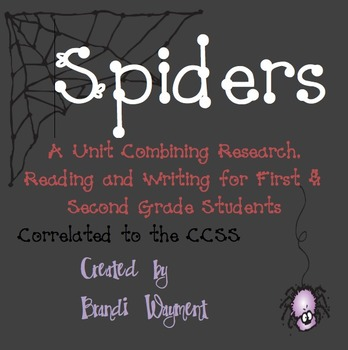 Spiders- A Unit of Research, Reading and Writing