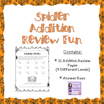 Spiders Addition Review Fun