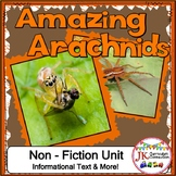 Spiders! Non-fiction Unit 1st and 2nd Grade
